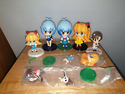 Lot of Evangelion @School Figures Rei Asuka Mari