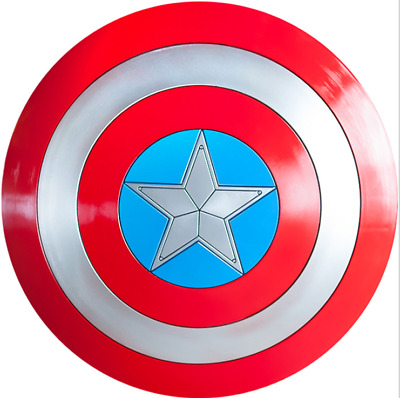 CATTOYS 2018 Version 1:1 The Avengers Captain America ABS Shield Repilica Prop 9