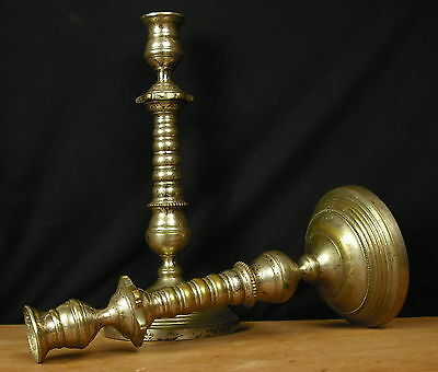 Pair of Candle Holders 18th / XIX ° Pair of Candlesticks Paar Leuchter 28,5 CM