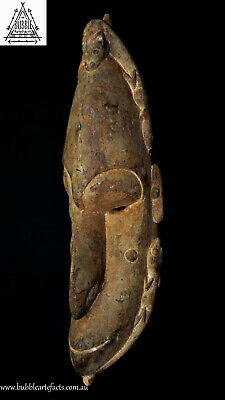 Fine Old Carved Koiwut Mask, Sawos People, Grassland Area, Papua New Guinea, PNG