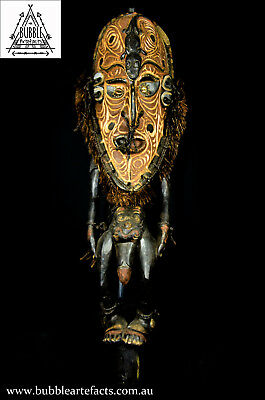 Stunning Powerful Old Flute Stopper, Yuat River, E. Sepik, PNG, Papua New Guinea