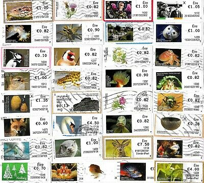 EIRE / IRELAND - Selection of Post & Go Labels Stamps from Kiloware - 17 Grams