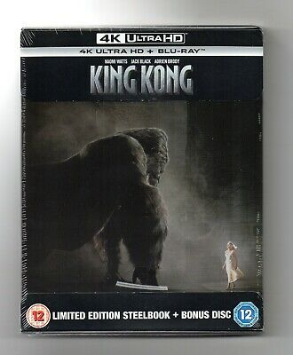 King Kong - 4K UHD Blu-ray Steelbook - NEW/SEALED - Regions ABC