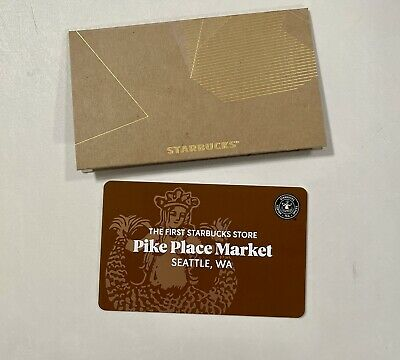 Seattle Pike Place The First Starbucks Collectible Gift Card - NO Value