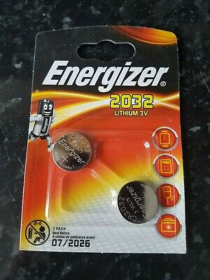 Brand New Energizer CR2032 3V Lithium Coin Cell Battery 2032 - Pack of 2