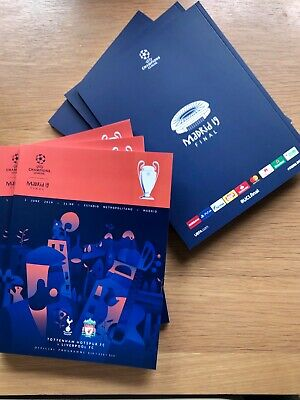 Limited Champions League Final Liverpool vs Tottenham Official Programme+Poster