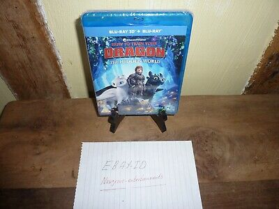 How To Train Your Dragon The Hidden World Blu-Ray 3D+Blu-Ray Brand New Sealed
