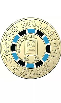 """2019 Mr Squiggle & Friends """"Blackboard"""" Coin $2 Two Dollar Coin"""