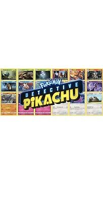 POKEMON TCG! COMPLETE DETECTIVE PIKACHU 18 Card Set ALL HOLO CARDS! NM
