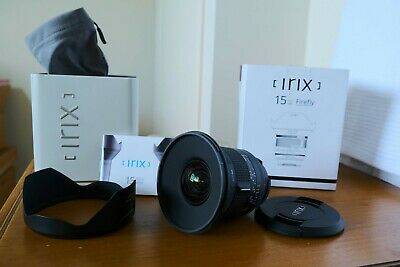 Irix 15mm F2.4 Firefly Super Wide Lens for Canon EF Mount = AS NEW!!