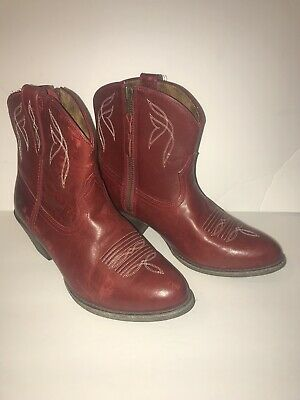 56c38d972b6b Ariat Women's Darlin Western Boot-Rosy Red-Short Cowboy-Nice Condition-Size