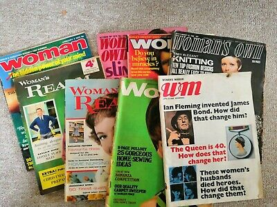 Woman, Womans Own, Realm Womans Mirror etc x 8 1960/70s Ideal for crafting