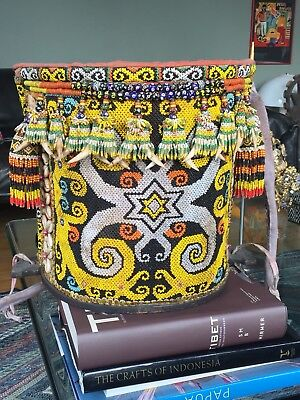 Old Borneo Dayak Tribal Beaded Baby Carrier Indonesia