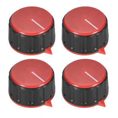 4pcs 6mm Potentiometer Control Knobs For Guitar Acrylic Volume Tone Knobs Red