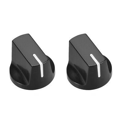 2pcs, 6.4mm Potentiometer Control Knobs For Guitar Volume Tone Knobs Black