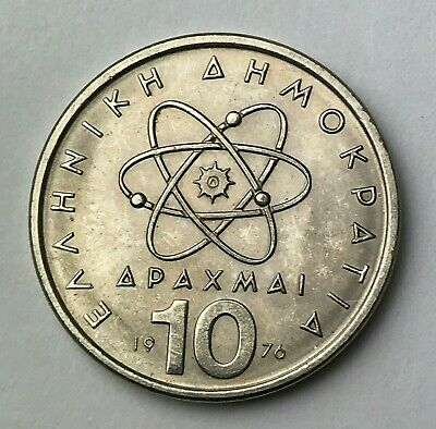 Dated : 1976 - Greece - 10 Drachmai - Greek Coin