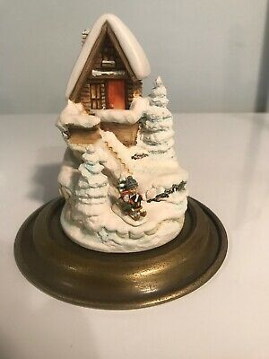 Goebel 1991 1st Edition Glass Dome WINTER FEST VILLAGE 989-D House in Snow