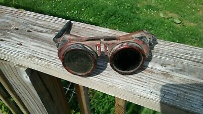 Vtg 40's Jackson Products USA 50-Series Welding/Safety Goggles Steam Punk Style