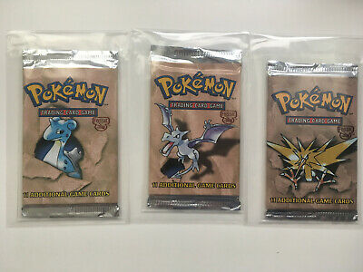 Pokemon Fossil set Booster Pack(3) English