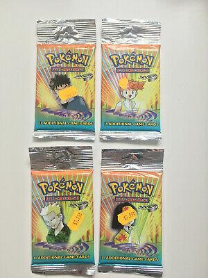 Pokemon Gym Heroes Set Long Booster Pack(4) English