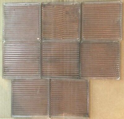 """Set of 8  4"""" X 4"""" SQUARE Tiles LUXFER Prism Co Saw-blade Pattern Sun Purple"""