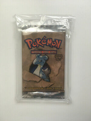 Pokemon Red Logo Fossil Booster Pack(1) English