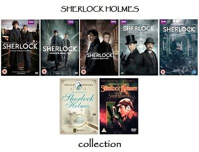 Sherlock series 1 2 3 4 + The Adventures of Sherlock Holmes 18  dvd set