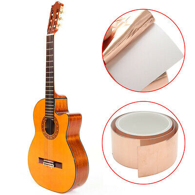 Guitar Copper Foil 50mmx3m Shielding Screening Tape Conductive Adhesive UK Stock
