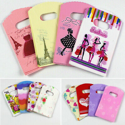 Paper Bags 50/100Pcs Bulk Shopping Carry Gift Bag with Handles Colorful