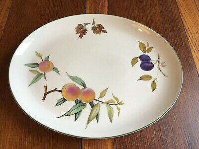 Royal Worcester Evesham Vale Large Oval Serving Plate/platter 39cm