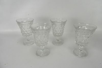 Vintage Fostoria American Clear Set of 4 Low Water Goblets