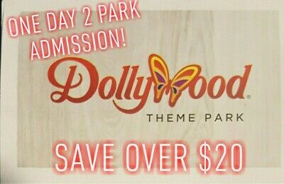DollyWood Theme Park Tickets 1 Day 2 Park Admission Save Over $20 With This...