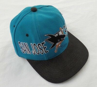 c48b25af Vintage 90s NHL San Jose Sharks Hockey Snapback Cap Wool Hat Starter The  Natural