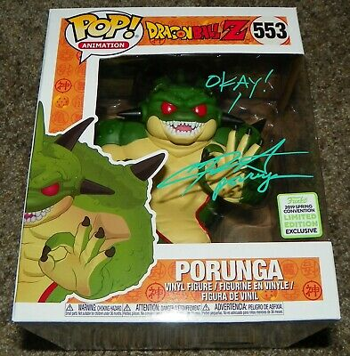 "Chris Sabat Signed 6"" Porunga Dragon Ball Z Funko Pop Figure Auto Beckett BAS"