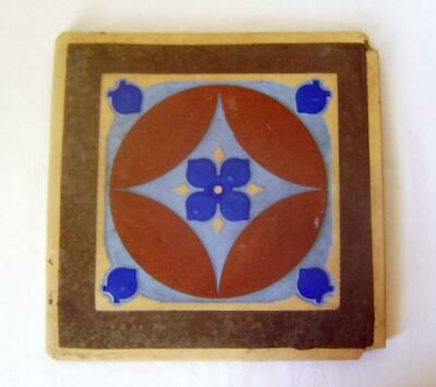 Minton Hollins Arts & Crafts Encaustic Tile 24 cm square: 4 colours: slight a/f
