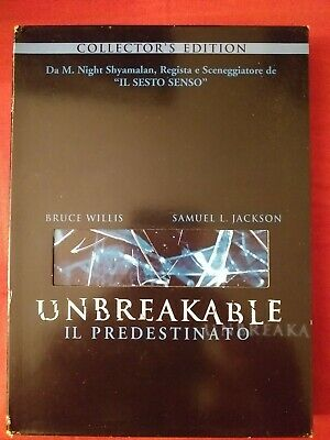 Unbreakable Il Predestinato-Collector's Edition-Digipack-Shyamalan-Willis-Glass
