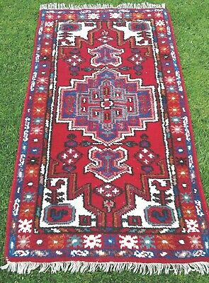 LOVELY Colours Vintage WOOL PERSIAN ORIENTAL hand knotted RUG CARPET 170x95cm