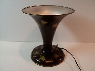 Vintage Table Lamp, TV Lamp, Cone, Mid Century. Hand Painted. 50's-60's