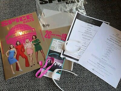 Spice Girls Spice World Tour Programme +Vip Ticket, Menu Last Historical Concert
