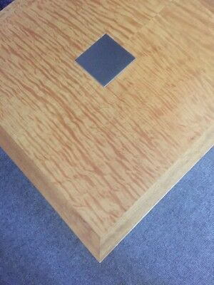Solid Timber Inlay Square Side Coffee Table Art Deco Vintage