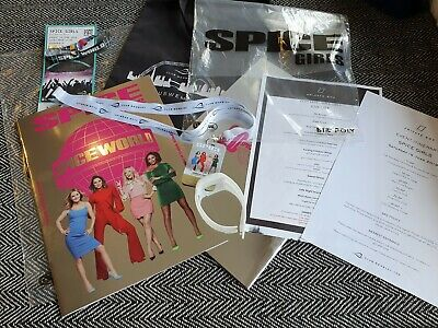 Spice Girls Spice World Tour Programme +Vip Pass Lanyard For Historical Concert!