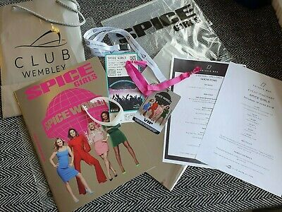 Spice Girls Spice World Uk World Tour Programme Vvip Pass Lanyard & Vip Ticket!!