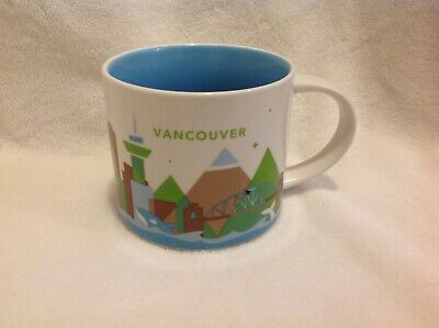 "Starbucks Vancouver Canada City Mug ""You Are Here"" YAH Collection 14 Oz 2014"