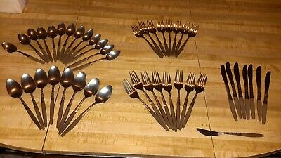 45 pc. Interpur stainless steel flatware faux wood