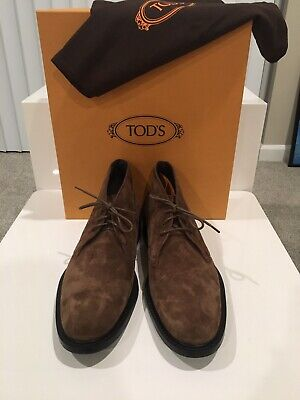 c6c4f87038f749 Tod's Brown Suede 'Polacco' Chukka Boot US Size 9.5 Italian Made MSRP