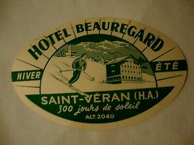 Label Luggage Hotel Beauregard Saint Veran. France