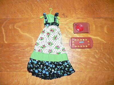 Vintage Mattel Barbie Accessories~Busy Hands Steffie #3312~Dress, Record Player+