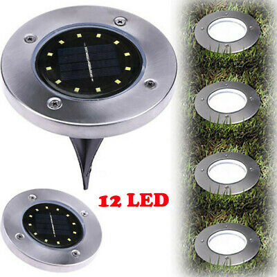 10*Solar Power Disk Lights LED Buried Light Outdoor Under Ground Lamp Waterproof