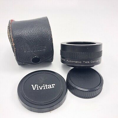 Vivitar Automatic Tele Converter 2x-1 with Original Case, Lens Made in Japan