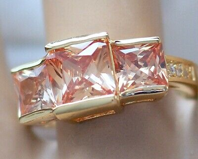 Antique Deco Jewellery Ring Topaz and White Sapphires Vintage Jewelry Sz 9 or R
